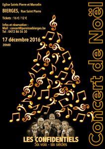 Concert de Noël 2016 - Les Confidentiels